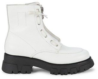 Ash Lynch Lug-Sole Leather Combat Boots