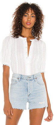 1 STATE Lace Inset Stripe Top