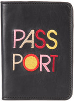 Lizzie Fortunato embroidered passport case - women - Leather - One Size
