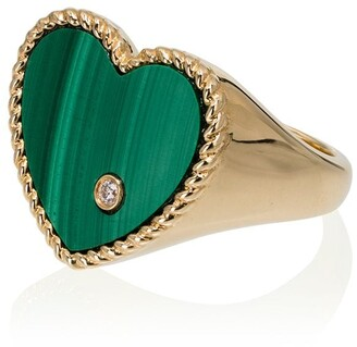 Yvonne Léon 18kt Gold, Emerald And Diamond Ring