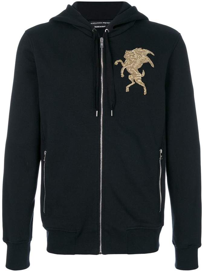 Alexander McQueen embroidered hooded sweatshirt
