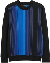 Balmain Black Striped Cotton Jumper