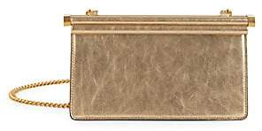 Valentino Women's Garavani Small Carry Secrets Metallic Leather Clutch