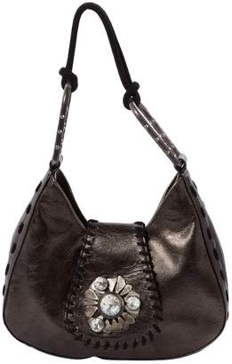 Ungaro Anthracite Leather Clutch bags