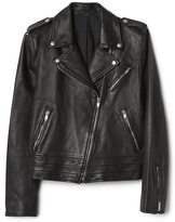 Gap Side-tie leather jacket
