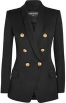 Balmain Double-breasted Wool Blazer - Black