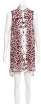 Mara Hoffman Shift Leopard Print Dress