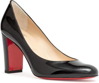 Christian Louboutin Lady Gena 85 black patent leather pumps