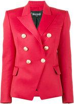 Balmain Red double breasted blazer - women - Cotton/Viscose/Wool - 34