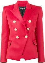 Balmain Red double breasted blazer - women - Cotton/Viscose/Wool - 36