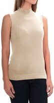 August Silk Standard Turtleneck - Sleeveless (For Women)