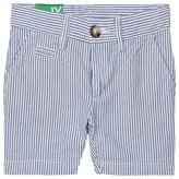 Benetton Blue and White Stripe Chino Shorts