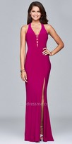 Faviana Horizontal Strap Prom Dress