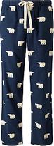 John Lewis Polar Bear Print Lounge Pants, Navy