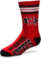 Unbranded Youth For Bare Feet San Diego State Aztecs 4-Stripe Deuce Crew Socks