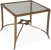 One Kings Lane Dursley Glass End Table, Brass