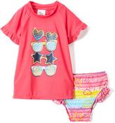 Sweet & Soft Pink Sunglasses Rashguard Set - Infant & Toddler