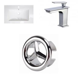 "American Imaginations 1 Hole Ceramic 24"" Single Bathroom Vanity Top"