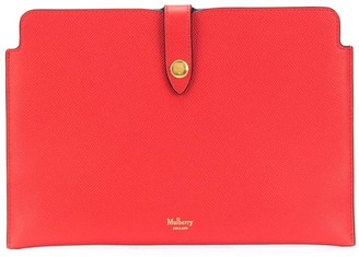 Mulberry Snap-Fastening Logo Clutch Bag