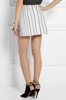 Peter Pilotto MK printed textured cotton-blend skirt