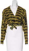 Norma Kamali Printed Long Sleeve Top