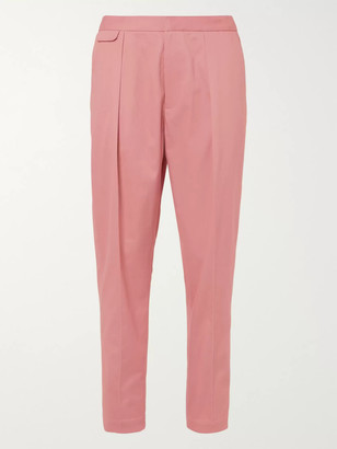 Equipment The Original Tapered Pleated Lyocell and Cotton-Blend Twill Trousers - Men - Pink