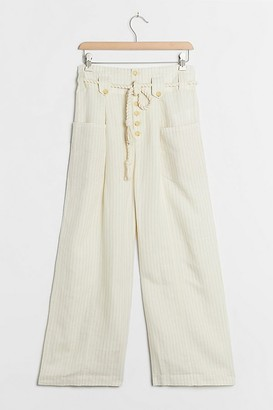 Maeve Sammie Striped Paperbag-Waist Trousers