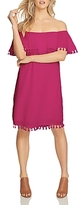 1 STATE 1.state Off-the-Shoulder Pom-Pom Dress