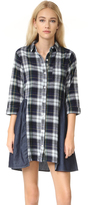 Clu Too Mix Media Plaid Dress
