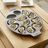 Crate & Barrel Cast Iron Oyster Grill Pan