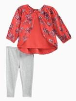 Splendid Baby Girl Jersey and Print Long Sleeve Set