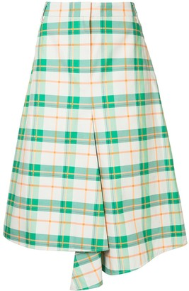 Tibi Hani draped plaid skirt