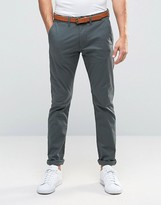 Selected Slim Fit Belted Chinos