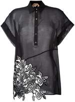 No.21 embroidered detail polo shirt