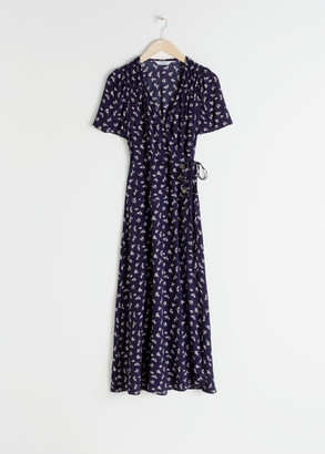 And other stories Flowy Wrap Midi Dress