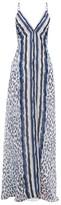 Marios Schwab On The Island By El Palmar Leopard-print Silk-chiffon Maxi Dress - Womens - Navy Print