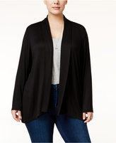 Style&Co. Style & Co Plus Size Draped Open-Front Cardigan, Created for Macy's