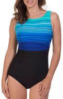Reebok Desert Rays Striped One-Piece Swimsuit