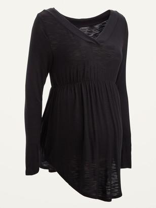 Old Navy Maternity Slub-Knit V-Neck Tunic Top
