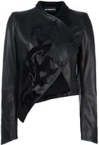 Ann Demeulemeester 'Luvas' asymmetric jacket - women - Cotton/Leather/Polyamide/Wool - 36