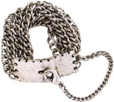 "8 Other Reasons Koko"" Silvertone Chain Lobster Clasp Closure Bracelet, 7.5"""