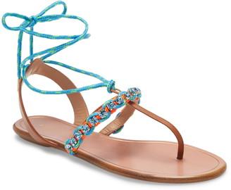 Aquazzura Aquazurra Braided Surf Lace-Up Sandal