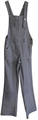 Carolina Ritzler Blue Cotton Jumpsuits