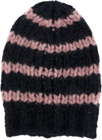 Roberto Collina striped knitted beanie hat