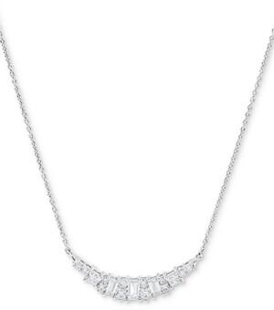 "Arabella Swarovski Zirconia Heart 18"" Statement Necklace in Sterling Silver"