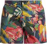 Valentino Tropical-print swim shorts