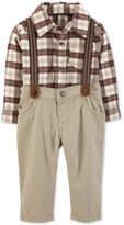 Carter Baby Boys 2-Pc. Plaid Bodysuit & Suspender Pants Set