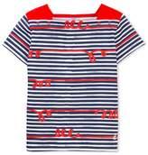 Petit Bateau Girls whimsical striped T-shirt