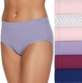 Fruit of the Loom Women's Signature Cotton Stretch 5-Pack + 1 Bonus Low Rise Brief Panty 6DCSSLB