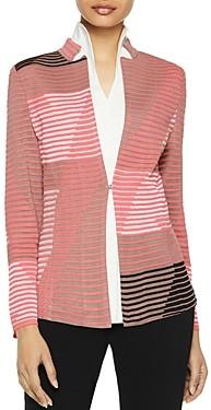Misook Geo Pattern Ottoman Knit Jacket